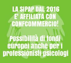 dal 2016 sipap è affiliata con confcommercio, Possibilità di fondi europei anche per i professionisti psicologi